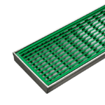Green Coloured Wedgewire Grates
