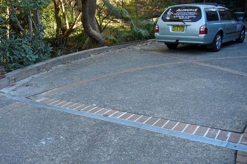 Driveway Drainage using Linear Strip Drain